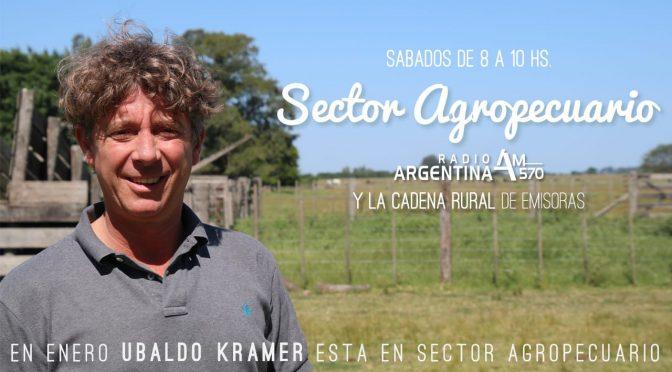 """Ubaldo (""""Ubi"""") Kramer conducirá el tradicional programa Sector Agropecuario este verano del 2019"""